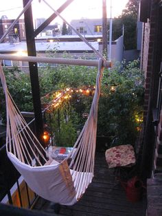 My fire escape garden and swing. Capitol Hill, Seattle (http://www.flickr.com/photos/37659839@N05/7730778226/)