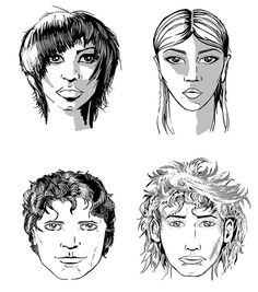 Conceptual development of four characters for the design of the book cover for the Omega children. http://www.mn8designsource.co.nz