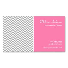 Daisies on pink business card business cards and business half chevron pattern gray and pink business card flashek Gallery