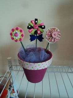 Small Hair Bowquet by cheerfuldianna80 on Etsy, $15.00