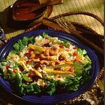 Red Curried Indonesian Salad with a Roasted Cashew-Oriental Dressing.
