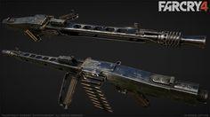Far Cry 4 : MG42 : 2, Greg Rassam on ArtStation at https://www.artstation.com/artwork/far-cry-4-mg42-2