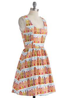 Rainbow Row Dress in Citrus, #ModCloth