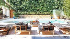 dustjacket attic: Happy Weekend in dream backyard pool and patio Outdoor Rooms, Outdoor Gardens, Outdoor Living, Outdoor Furniture Sets, Indoor Outdoor, Outdoor Decor, Pool Furniture, Indoor Pools, Living Pool