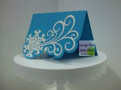 Scrap This, Save That: Blue Snowflake Christmas Card made using a Silhouette Cameo and Stickles