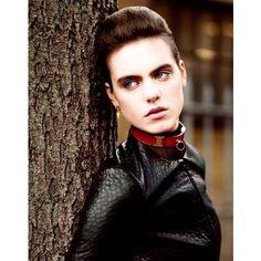 Leather Look: Corinna Ingenleuf Dons Rebellious Style for Mark Kean's Sleek Shoot