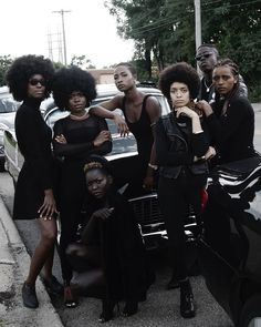 """The Black Panthers Party is paid homage in Isaac West's """"October editorial series Black Power, Black Girl Magic, Black Girls, Black Panthers Movement, Black Panther Party, By Any Means Necessary, Black Goth, Black Girl Aesthetic, Goth Aesthetic"""