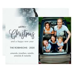 Merry Christmas and Happy New Year Greetings photo Card - Xmas ChristmasEve Christmas Eve Christmas merry xmas family kids gifts holidays Santa