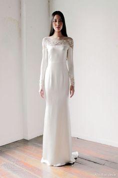 minimslist white wedding dress