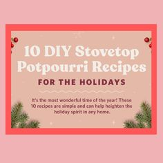 Keeping it Real: DIY holiday potpourri Holiday Treats, Holiday Recipes, Potpourri Recipes, Family Holiday, House Party, Wonderful Time, Stocking Stuffers, Christmas Cookies, Happy Holidays
