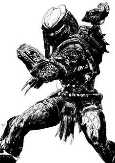 Predator b&w