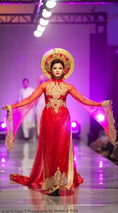 Vietnamese-American designer, Jacky Tai, sends his bridal collection of wedding ao dai's and wedding gowns down the catwalk at Viet Fashion Week Fashion Week 2016, Ao Dai, Bridal Collection, Catwalk, Wedding Gowns, Thailand, Aurora Sleeping Beauty, Runway, Formal Dresses