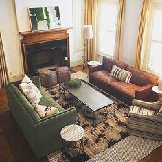 Moody Modern Living Room Designed by Mitzi Maynard