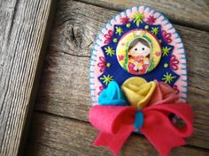 FREE Shipping Virgencita Cuidame Magnet Shrine / by Mexicanisima, $8.50