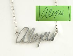 Custom name necklace in your own handwriting by JewelrySavenko
