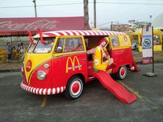 Ronald McDonald VW Bus