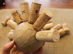 Wine Cork Ball - Sometimes Homemade