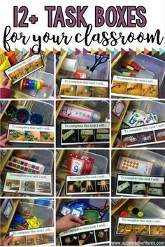 TEACCH Task Box ideas for a special education program or autism classroom....good for ELL'S too!