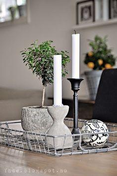 Table decoration, wirebasket
