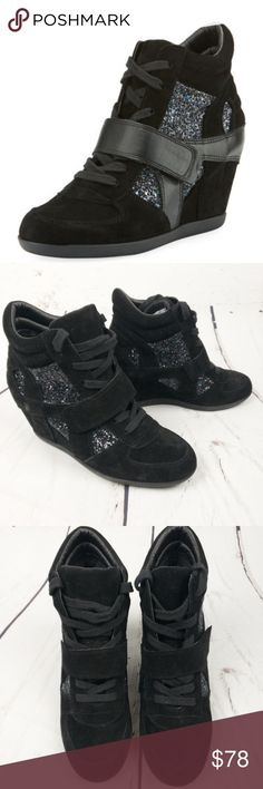 805285ded580 Ash Bowie Wedge Glitter Sneakers Size 37 Strayed with an accelerated grunge  accent