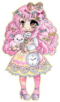 Sweet Lolita ::Chibi Commission:: by YamPuff.deviantart.com on @DeviantArt