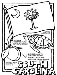 South Carolina coloring page - coloring print outs for all states!