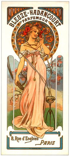 Alphonse Mucha - Parfumeur Bleuze Hadancourt -1899.