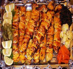 Chicken Persian kabobs