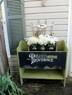 Planter with Antique Typography - Patina Paradise