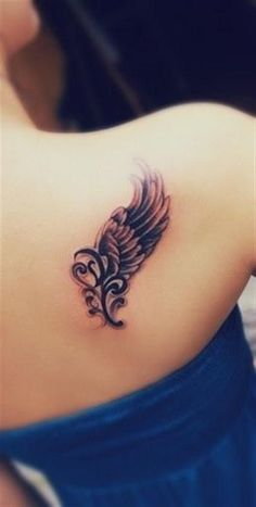 65 Beautiful Angel Wing Tattoos For Women