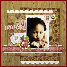 Mwah layout by Rochelle Spears using Jillibean Soup's Hearty Barley papers (via the Jillibean Soup blog).