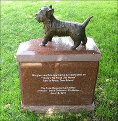 Toto Dog | Monument to Toto - of Wizard of Oz fame (photo)