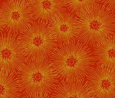 Christmas Modern Starburst / Scarlet fabric by mixmasterb on Spoonflower - custom fabric