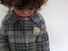 Childs wool coat vintage inspired by OneMe on Etsy