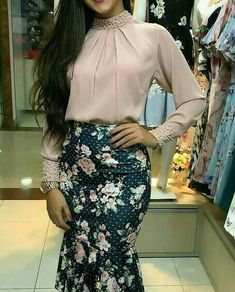 Cute Work Outfits, Classy Outfits, Meeting Outfit, Short Lace Wedding Dress, Blouse And Skirt, Work Fashion, Skirt Outfits, Indian Dresses, Blouse Designs