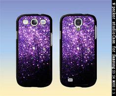 Samsung case Glitter galaxy s4 galaxy s3 case by Peckerstudio, $7.99