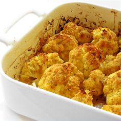 1 head cauliflower 2 clv garlic, peeled and roughly chopped 6 anchovy fillets 1⁄2 c olive oil 1⁄2 lemon juice and zest, separated  salt and freshly ground black pepper, to taste 1⁄2 c seasoned breadcrumbs (optional!) 1⁄2 c water Preheat oven to 425.