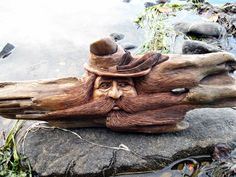 Driftwood Carving by Robert Dowling