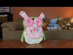 Owl Diaper Cake (How To Make) - YouTube