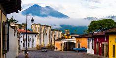 Blick auf Antigua in Guatemala