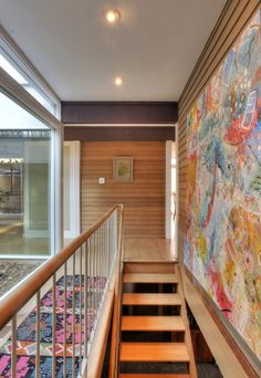 Mid century stair and hall