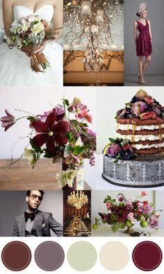 Fig Wedding: Color Inspiration: Pomegranate and Fig