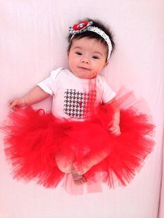 Baby Girl OHIO State Onesie Tutu Set Bodysuit by magsandlou, $40.00