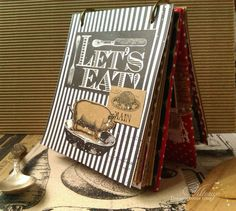 Handmade cookbook using Canvas Corp Farmhouse Kitchen collection