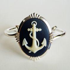Nautical Cameo Ring