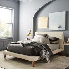 Mod Upholstered Platform Bed - Micro Boucle | west elm