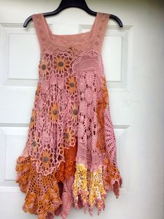 Luv Lucy tunic Antique Daisy Pearl boho gypsy  by LuvLucyArtToWear, $175.00