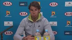 Here's a short excerpt from Rafa's presser. Posted by Australian Open TV.