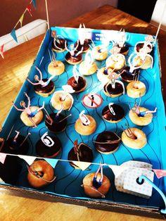zwembad traktatie van Geny Trakteert, zwembanden van mini donuts