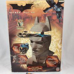 Batman Begins 3D Picture Sculpture Puzzle Christian Bale DC Comics Masterpieces  #MasterPieces